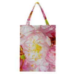 Pink Flowering Almond Flowers Classic Tote Bag by FunnyCow