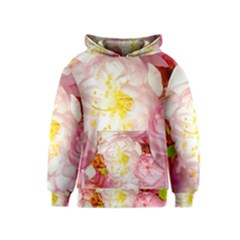 Pink Flowering Almond Flowers Kids  Pullover Hoodie by FunnyCow