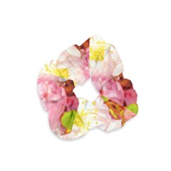 Pink Flowering Almond Flowers Velvet Scrunchie by FunnyCow