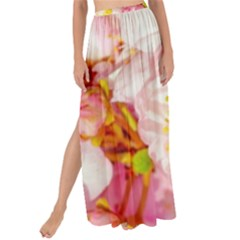 Pink Flowering Almond Flowers Maxi Chiffon Tie Up Sarong by FunnyCow