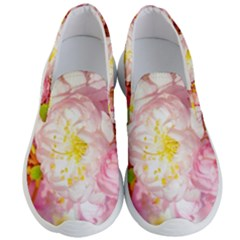 Pink Flowering Almond Flowers Men s Lightweight Slip Ons