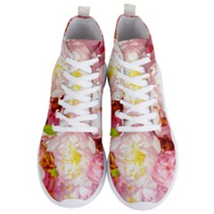 Pink Flowering Almond Flowers Men s Lightweight High Top Sneakers