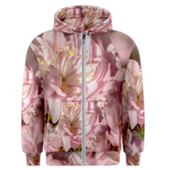 Beautiful Flowering Almond Men s Zipper Hoodie by FunnyCow