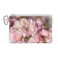 Beautiful Flowering Almond Canvas Cosmetic Bag (large) by FunnyCow