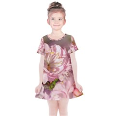 Beautiful Flowering Almond Kids  Simple Cotton Dress by FunnyCow