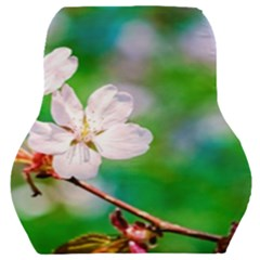 Sakura Flowers On Green Car Seat Back Cushion  by FunnyCow