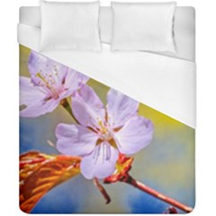 Sakura Flowers On Yellow Duvet Cover (california King Size) by FunnyCow