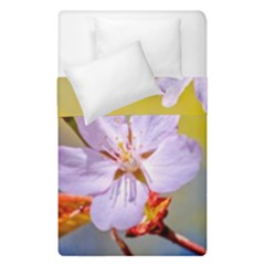 Sakura Flowers On Yellow Duvet Cover Double Side (single Size) by FunnyCow