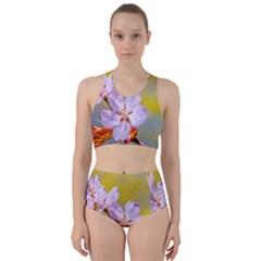 Sakura Flowers On Yellow Racer Back Bikini Set by FunnyCow
