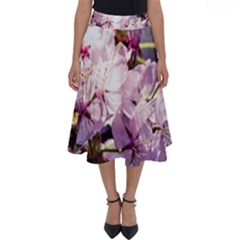 Sakura In The Shade Perfect Length Midi Skirt by FunnyCow
