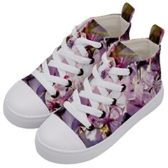 Sakura In The Shade Kid s Mid Top Canvas Sneakers by FunnyCow