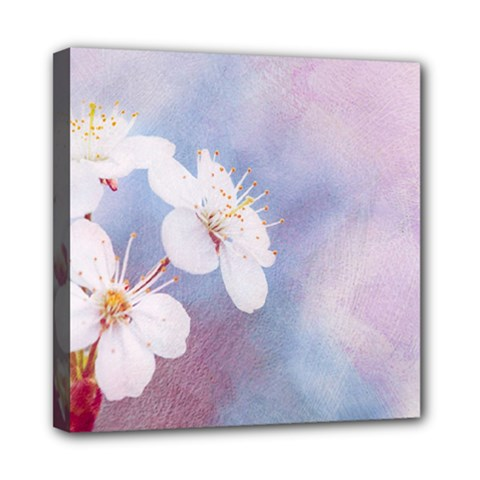 Pink Mist Of Sakura Mini Canvas 8  X 8  by FunnyCow