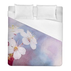 Pink Mist Of Sakura Duvet Cover (full/ Double Size) by FunnyCow