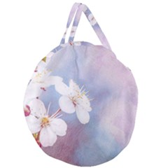 Pink Mist Of Sakura Giant Round Zipper Tote by FunnyCow