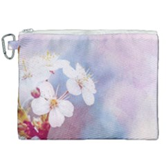 Pink Mist Of Sakura Canvas Cosmetic Bag (xxl) by FunnyCow