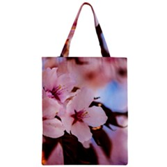 Three Sakura Flowers Zipper Classic Tote Bag by FunnyCow