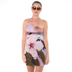 Three Sakura Flowers One Soulder Bodycon Dress by FunnyCow