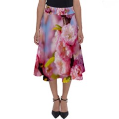 Flowering Almond Flowersg Perfect Length Midi Skirt by FunnyCow