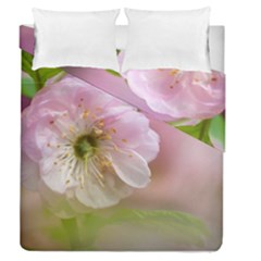 Single Almond Flower Duvet Cover Double Side (queen Size) by FunnyCow