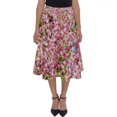 Almond Tree In Bloom Perfect Length Midi Skirt by FunnyCow