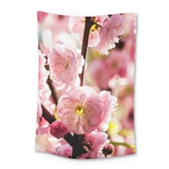 Blooming Almond At Sunset Small Tapestry by FunnyCow
