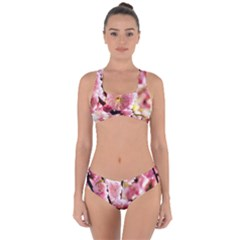 Blooming Almond At Sunset Criss Cross Bikini Set by FunnyCow
