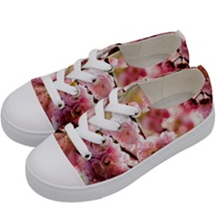 Blooming Almond At Sunset Kids  Low Top Canvas Sneakers by FunnyCow
