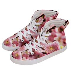 Blooming Almond At Sunset Women s Hi Top Skate Sneakers by FunnyCow