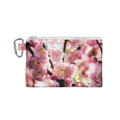 Blooming Almond At Sunset Canvas Cosmetic Bag (small) by FunnyCow