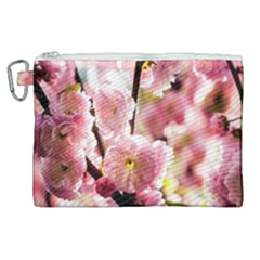 Blooming Almond At Sunset Canvas Cosmetic Bag (xl) by FunnyCow