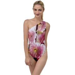 Blooming Almond At Sunset To One Side Swimsuit by FunnyCow