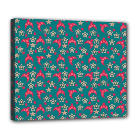 Teal Hats Deluxe Canvas 24  X 20   by snowwhitegirl