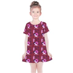 Punk Baby Red Kids  Simple Cotton Dress