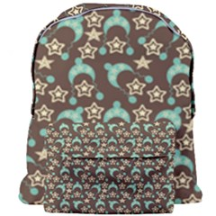 Brown With Blue Hats Giant Full Print Backpack by snowwhitegirl