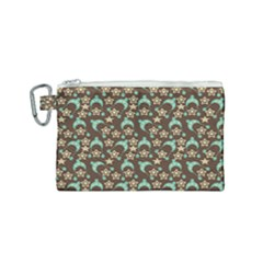 Brown With Blue Hats Canvas Cosmetic Bag (small) by snowwhitegirl