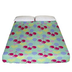 Birthday Cherries Fitted Sheet (california King Size) by snowwhitegirl