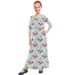 Birthday Cherries Kids  Quarter Sleeve Maxi Dress by snowwhitegirl