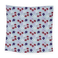 Sky Cherry Square Tapestry (large) by snowwhitegirl