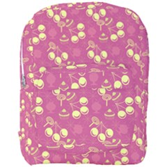 Yellow Pink Cherries Full Print Backpack by snowwhitegirl