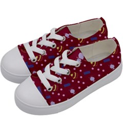 Cakes And Sundaes Red Kids  Low Top Canvas Sneakers by snowwhitegirl