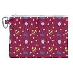 Cakes And Sundaes Red Canvas Cosmetic Bag (xl) by snowwhitegirl