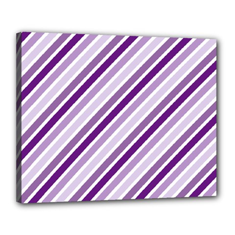 Violet Stripes Canvas 20  X 16  by snowwhitegirl