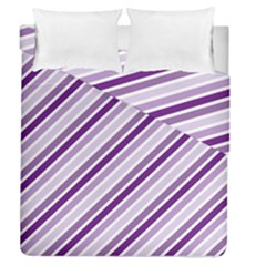 Violet Stripes Duvet Cover Double Side (queen Size) by snowwhitegirl