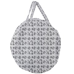 Boots Grey Giant Round Zipper Tote