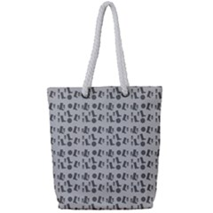 Boots Grey Full Print Rope Handle Tote (small) by snowwhitegirl