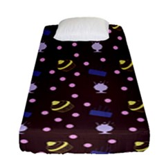 Cakes And Sundaes Chocolate Fitted Sheet (single Size) by snowwhitegirl
