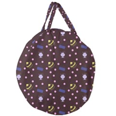 Cakes And Sundaes Chocolate Giant Round Zipper Tote