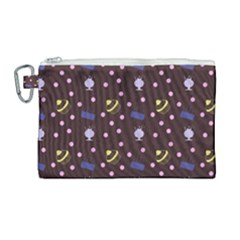 Cakes And Sundaes Chocolate Canvas Cosmetic Bag (large) by snowwhitegirl