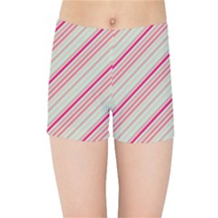 Candy Diagonal Lines Kids Sports Shorts