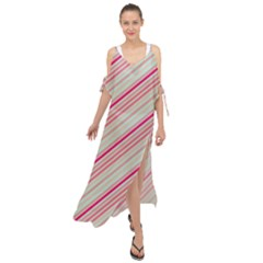 Candy Diagonal Lines Maxi Chiffon Cover Up Dress by snowwhitegirl